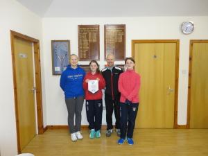 Winners of Aegon U18 Girls 2015 - Montrose