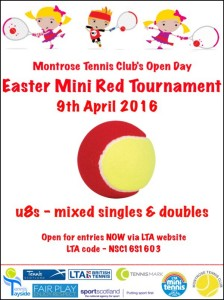Montrose Mini Red Tournie 9 April