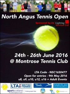 North Angus Tennis Open 24 - 26 June