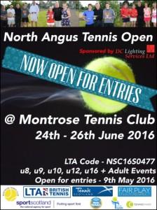 North Angus Tennis Open 2016